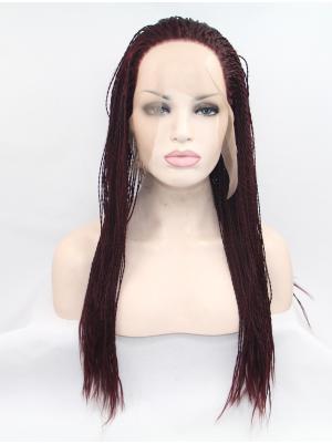Auburn Curly Long Sleek Wig Lace