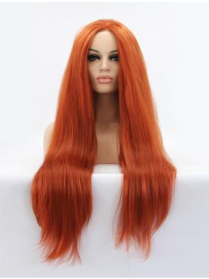 Auburn Straight Long Gorgeous No Glue Lace Wigs