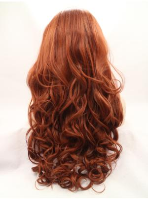 Wavy Auburn High Quality Synthetic Lace Wigs On Sale