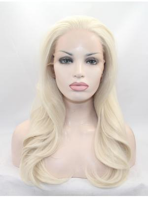 20 Inches Blonde Natural Long Wavy Best Lace Wigs