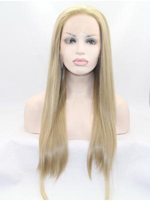 24 Inches Blonde Discount Long Straight Best Lace Wig