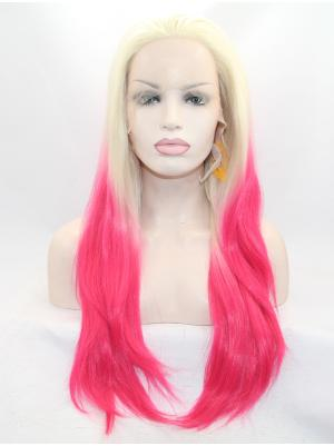 Blonde To Strawberry Straight Long Popular Stylish Lace Wigs