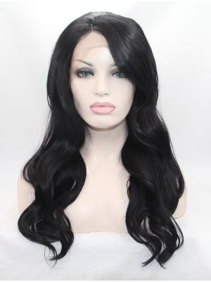 Sassy Synthetic Black Wavy 18 Inches Front Lace Wig