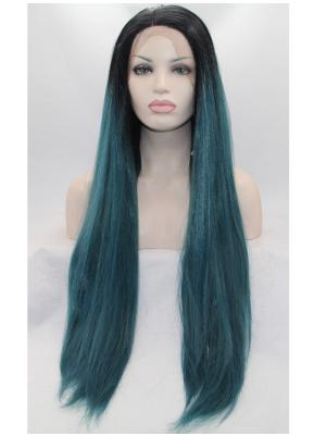 32 Inches Capri With Dark Roots Ideal Long Straight Cheap Lace Frontal