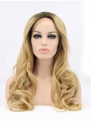 17 Inches Blonde Suitable Long Curly Cheap Lace Wigs
