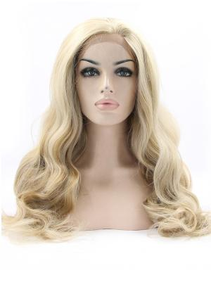 Trendy Synthetic Blonde Curly 19 Inches Hair Lace Wig