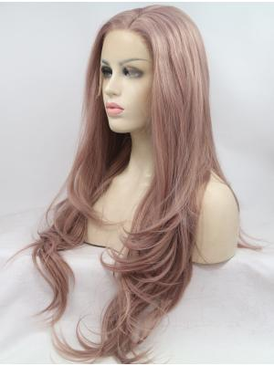 28 Inches Lavender Bare Pink Soft Long Wavy Buy Lace Wigs