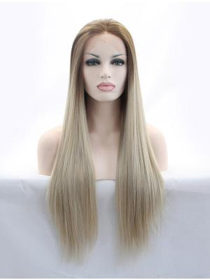 29 Inches Brown Popular Long Straight Cheap Lace Wigs