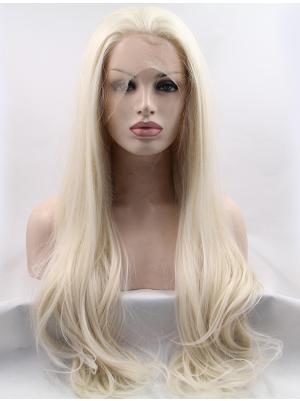 Wavy Platinum Blonde Perfect Synthetic Lace Wig Cap