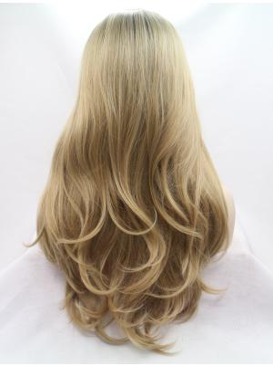 Wavy Blonde Exquisite Synthetic Lace Wig Cap