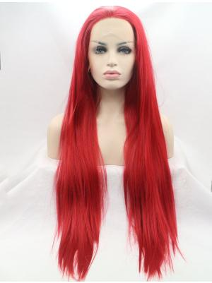 30 Inches Red Beautiful Long Straight Buy Lace Online