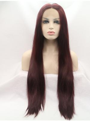Auburn Straight Long Perfect Wigs Lace Front