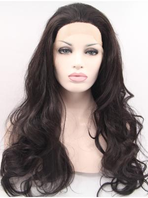 Curly Black Suitable Synthetic Lace Wigs