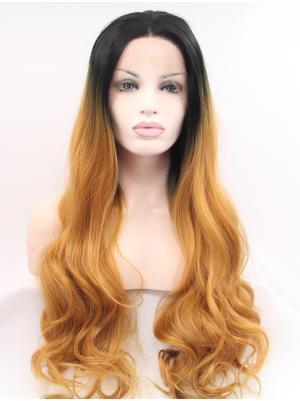 Black To Auburn Curly Long Amazing Stylish Lace Wigs