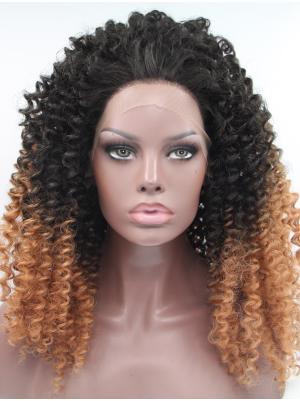 Black To Blonde Kinky Long Ideal Lacewig