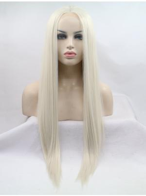 24 Inches Platinum Blonde Fabulous Long Straight Buy Lace Online
