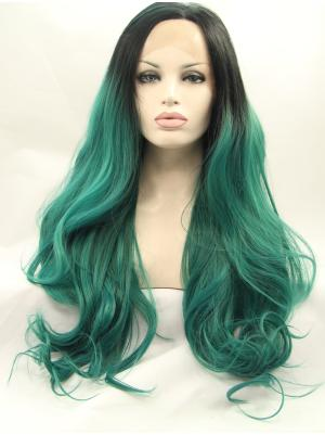 Curly Black To Emerald Online Synthetic Lace Wigs On Sale