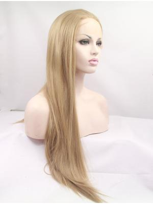 30 Inches Blonde Perfect Long Straight Cheap Lace Frontal