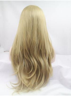 New Synthetic Blonde Wavy 26 Inches Hair Lace Wig