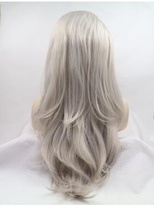 Wavy Sliver Hairstyles Synthetic Lace Wig