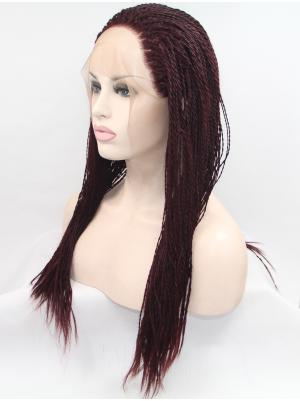 Flexibility Synthetic Auburn Curly 20 Inches Lace Frontal Wig