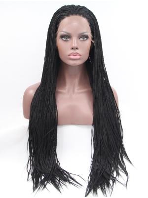 32 Inches Black Discount Long Curly Cheap Lace Wig