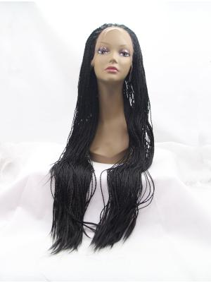 Black Curly Long Great Wig Lace Front