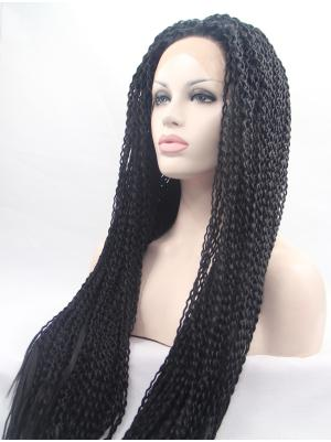 Black Curly Long New Wig Lace Fabric