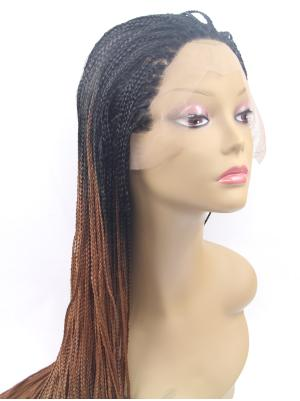 Perfect Synthetic Black To Dark Brown Curly 38 Inches Lace Cap Wig