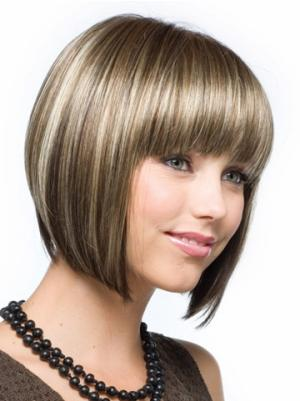 Brown 10 Inches Chin Length Straight Capless Bob Hairstyles