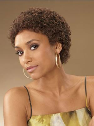 Flexibility Synthetic Brown Capless 2 Inches Curly Cropped Hair Styles