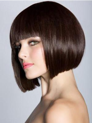 Incredible 10 Inches Straight Capless Auburn Wigs Bob Style