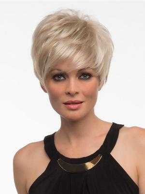 Style With Bangs Blonde 6 Inches Wigs