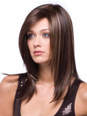 Straight Auburn 14 Inches Without Bangs Fashion Wigs