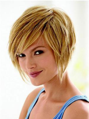Exquisite 8 Inches Straight Capless Blonde Wig Bob