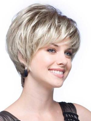 Blonde Wavy 6 Inches Trendy Short Synthetic Hair