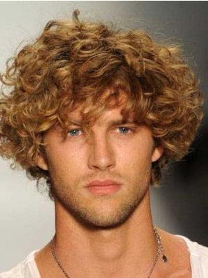 8 Inches Short Curly Synthetic Fashion Cheap Blonde Wigs