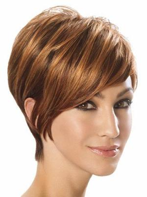 Stylish 6 Inches Straight Auburn Short Wigs