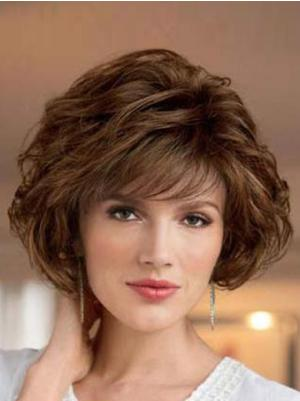 Best 8 Inches Wavy Capless Brown Bob Wigs For Sale