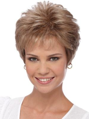 Wavy 4 Inches Suitable Blonde Short Wig