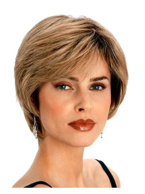 7 Inches Short Wavy Synthetic Cheapest Blonde Wigs Cheap