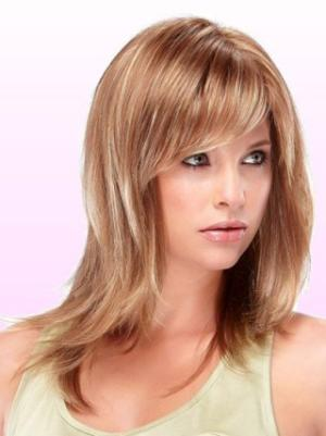 Straight Auburn 15 Inches Layered Amazing Wigs