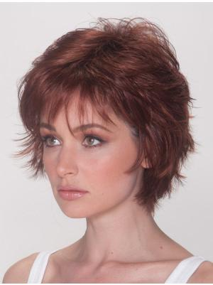 Trendy 8 Inches Straight Auburn Short Wigs
