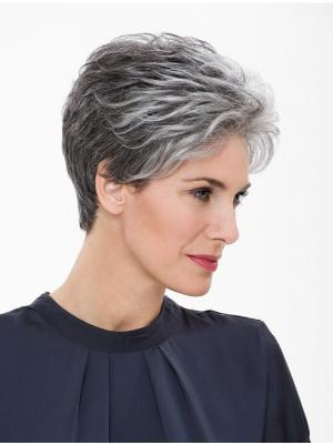 Straight Capless Salt and Pepper Colour Grey Perfect Wigs