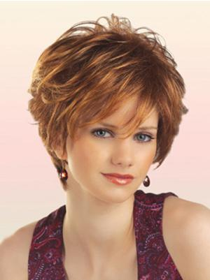 Comfortable 8 Inches Wavy Auburn Short Wigs
