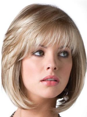 Style 10 Inches Straight Capless Blonde Wigs Bob