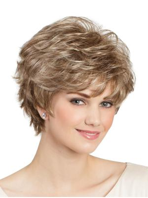 Amazing 8 Inches Synthetic Wavy Short Classic Lady Wig