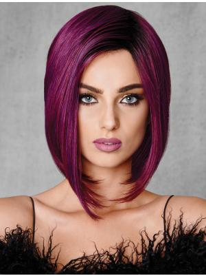 Popular 10 Inches Straight Capless Violet Wigs Bobs