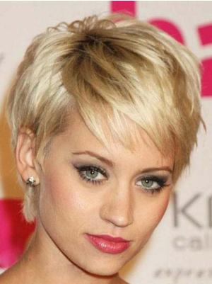 Straight 6 Inches Perfect Blonde Short Hairstyles