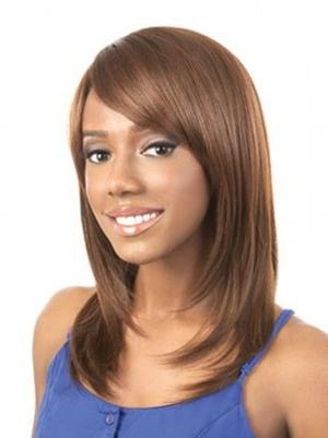 Shoulder Length Straight Suitable 16 Inches Wigs